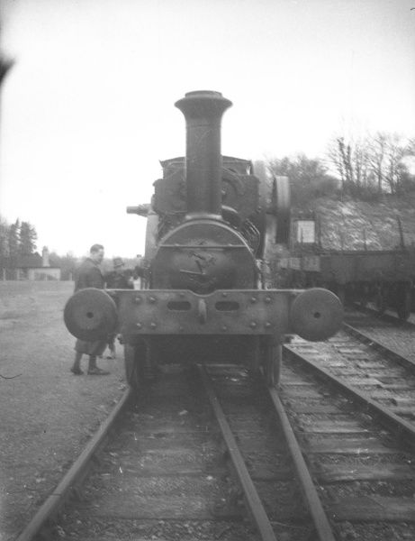 Aveling & Porter geared locomotive on the Amberley Quarry Railway 1940