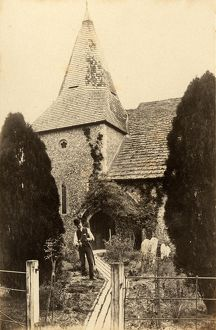 west sussex record office/general photographic/exterior st james church ashurst 1 may 1898