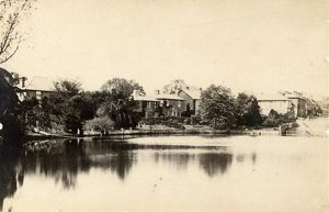west sussex record office/general photographic/houses surrounding banks river lindfield 30 may