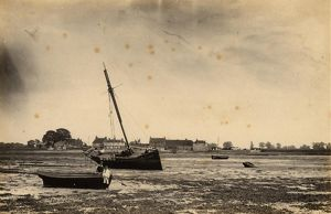 west sussex record office/general photographic/low tide bosham harbour 18 may 1891