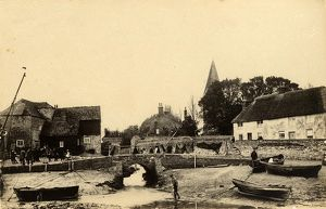 west sussex record office/general photographic/view bosham harbour buildings 18 may 1891