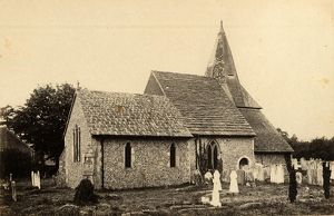 west sussex record office/general photographic/view st james church ashurst 1 may 1893